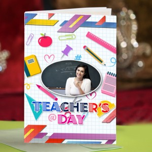 Personalized Teacher's Day Greeting Card 005