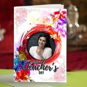 Personalized Teacher's Day Greeting Card 006