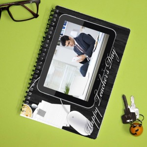 Personalized Teachers Day Notebook with photo and  message 001