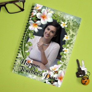 Personalized Teachers Day Notebook with photo and  message 002