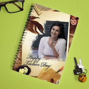 Personalized Teachers Day Notebook with photo and  message 004