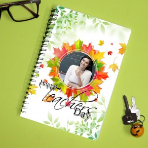 Personalized Teachers Day Notebook with photo and  message 005