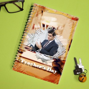 Personalized Teachers Day Notebook with photo and  message 006