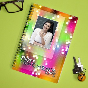 Personalized Teachers Day Notebook with photo and  message 007