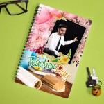 Personalized Teachers Day Notebook with photo and  message 008