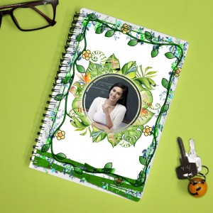 Personalized Teachers Day Notebook with photo and  message 009