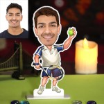 Personalized Tennis Player Caricature Photo Stand In