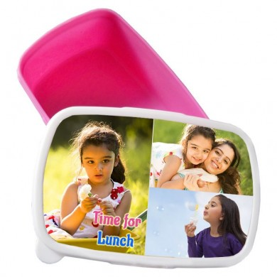 Personalized tiffin box for Kids with photo and message
