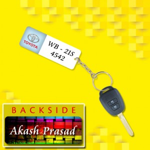 Personalized Toyota Car key ring with name and number and logo