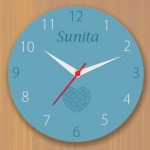 Personalized wall clock with name