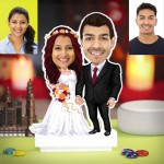 Personalized Wedding Couple Caricature Photo Stand In