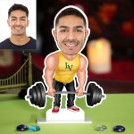 Personalized Weight Lifter Caricature Photo Stand In