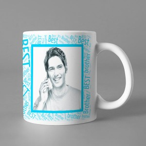 Photo Sketch Classic photo mug print with Best Brother