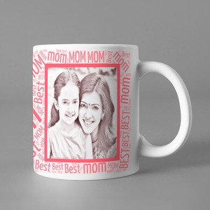 Photo Sketch Classic photo mug print with Best MOM