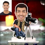 Photographer with tripod Caricature Photo Stand In