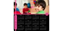 Personalized mouse pad calendar with photo Pink