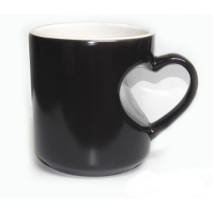 Premium Heart Black Magic Mug Personalized Photo gift