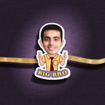 Personalized Caricature Big Bro Photo Rakhi - RK119
