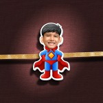 Personalized Caricature Photo Rakhi - RK111
