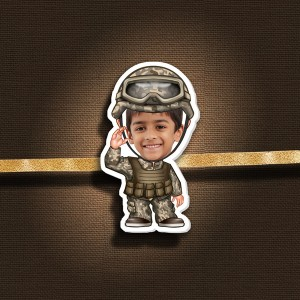 Personalized Caricature Photo Rakhi - RK118