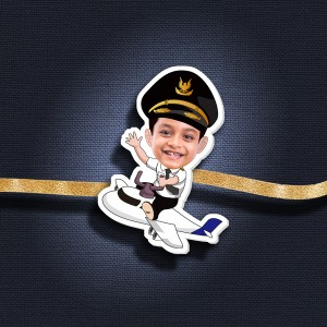 Personalized Caricature Photo Rakhi - RK120