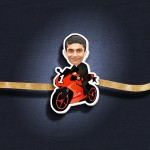 Personalized Caricature Photo Rakhi - RK122