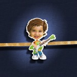 Personalized Caricature Rock Star Photo Rakhi - RK115