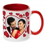 Red dual tone personalized photo mug