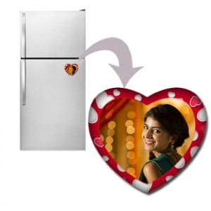 Red Heart Shaped Personalized Fridge Magnet