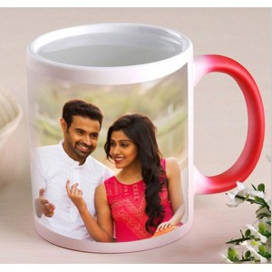 Red Personalized Magical color changing Mug
