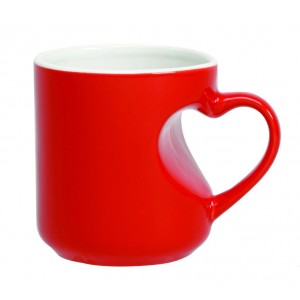 Red Premium Heart Handle Magic Mug Personalized Photo