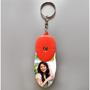 Personalized light glow key ring with photo backview