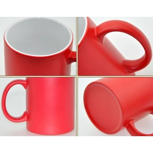 Red Personalized Magical color changing Mug backview