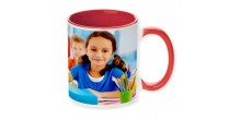 Your Design Red Handle and Inside red mug