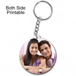 Round shape both side printable plastic keyring