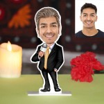 Sports Game Anchor Caricature Photo Stand In