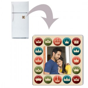 Square plastic personalized fridge magnet