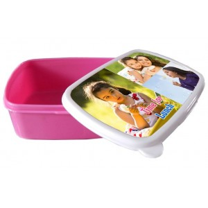 Personalized tiffin box for Kids with photo and message backview