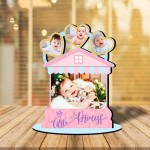 Personalized Little Princess 2 MDF cutout photo collage stand
