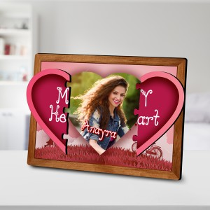 Magnetic Personalized Heart Photo Frames backview
