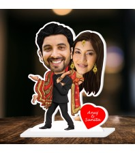 Personalized Filmy Couple Caricature Photo Stand In