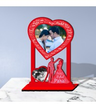 Personalized Photo Collage Table Stand Couple with Name Art 2 FREE SHIPPING