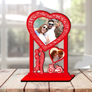 Personalized Photo Collage Table Stand Couple with Name Art 5 FREE SHIPPING
