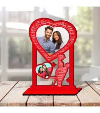 Personalized Photo Collage Table Stand Couple with Name Art 6 FREE SHIPPING