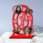 Personalized Photo Collage Table Stand Couple with Name Art FREE SHIPPING
