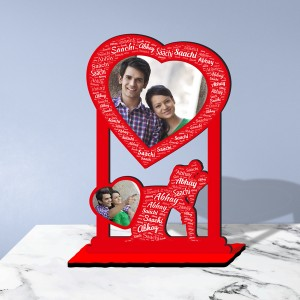 Personalized  Table Stand Couple with Name Art 1