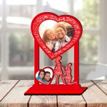 Personalized  Table Stand Couple with Name Art 3