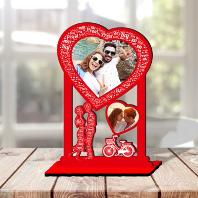 Personalized Table Stand Couple with Name Art 5