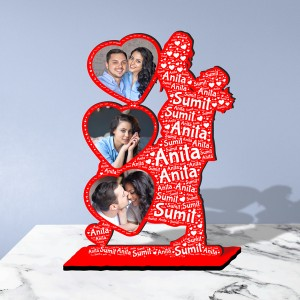 Personalized  Table Stand with Name Art