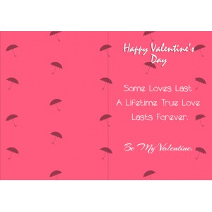 Personalized Valentine Greeting Card 011 backview